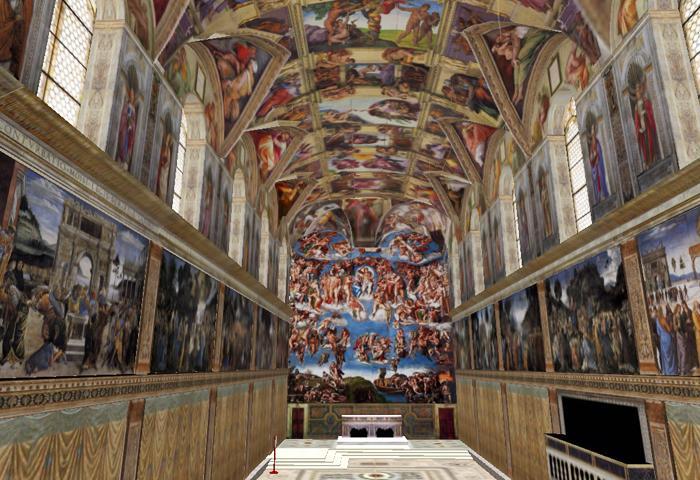 Carr pluriel le pape autorise la location de la - Fresque du plafond de la chapelle sixtine ...
